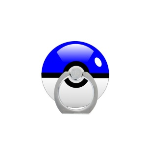 Pokemon Go Poke Ball Ring Kickstand Cable Winder for iPhone Android Smartphone - Blue