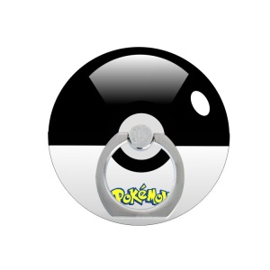 Pokemon Go Quiz Pokeball Finger Grip Metal Ring Stand - Black