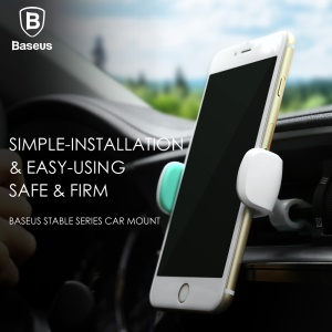 BASEUS Stable Series Car Air Vent Rotating Holder for iPhone 7 Plus / 7 - Cyan