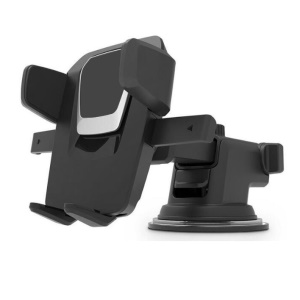 Suction Cup Style Car Mount Holder for iPhone 7 Plus / Samsung Galaxy S7 Edge - Black