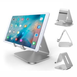 Aluminum Alloy Desktop Tablet Anti-skid Stand Holder for iPad Pro / Samsung Galaxy Tab A 7.0 - Silver