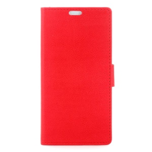 Wallet Leather Stand Case Cover for ZTE Blade A610 - Red