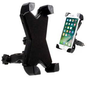 PH-666 Universal Bike Mount Rotating Bicycle Handlebar Cell Phone Holder Cradle - Black