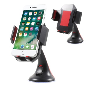 Universal Rotatable Car Mount Desktop Phone Holder Cradle for iPhone 7 Plus / Samsung Galaxy Note7 - Red
