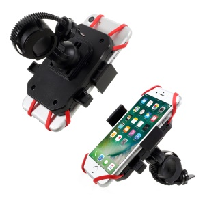 Universal Bicycle Bike Mount Mobile Phone Holder Cradle with Elastic Secure Strap