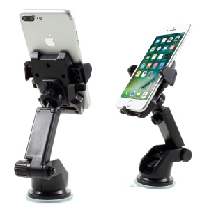 One Touch Car Mount Cellphone Holder for iPhone 7 Plus/7/SE, Width: 55-85mm