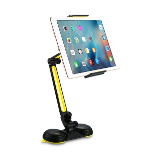 JOYROOM Universal Folding 4-11 Inch Phone Tablet Stand Suction Cup Holder - Black / Yellow
