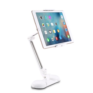 JOYROOM Universal Suction Cup Folding Desktop Stand for iPhone 7/iPad mini Etc - White / Grey