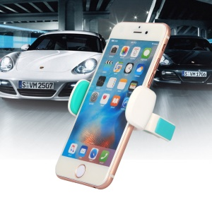 D9ELEMENT Universal Car Air Vent Mount Mobile Phone Holder for iPhone 7 Other Phone with Width 52-80mm - Lake Green