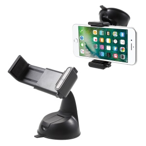 Suction Cup Car Windshield Mount Holder for iPhone 7 Plus/7, Width: 57-90mm - Black