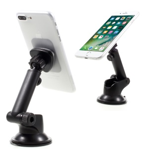 C02+H101 Universal Rotary Magnetic Car Mount Telescopic Holder for iPhone 7 Plus Etc. - Black