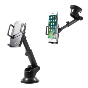 Telescopic Arm Suction Cup Car Mount Holder for iPhone 7 Plus/Galaxy S7, Width: 50-95mm