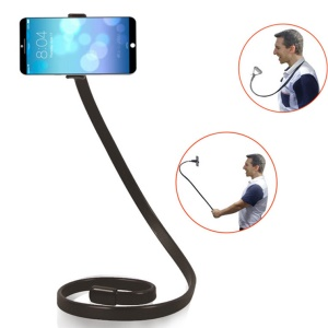 Snake Shape Flexible Long Arm Mobile Phone Holder Cell Phone Clip Stand Mount - Black