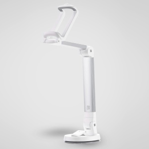 REMAX RM-C23 Multi Angle Rotation Car Desktop Mount Holder Stand, Width: 50-85mm - White / Silver