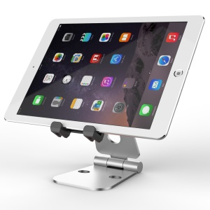 SEENDA Metal Foldable Desktop Stand for iPhone iPad Samsung etc Smartphones Tablets - Silver