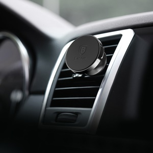 BASEUS Small Ears Series Magnetic Rotation Car Air Vent Mount Holder for iPhone Samsung - Black