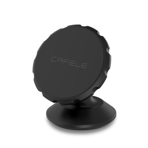 CAFELE Gear Shape Magnetic Rotation Car Mount Holder for iPhone Samsung - Black