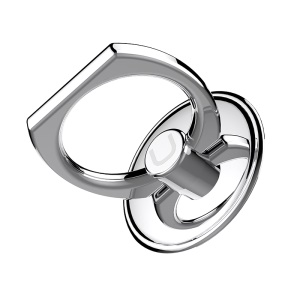 USAMS ZJ014 Aluminum Alloy Finger Ring Holder for Smartphone and Tablets - Silver