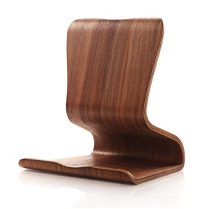 Dual-use Real Wood Desktop Stand for iPad Galaxy Tab etc. Tablet - Walnut Wood