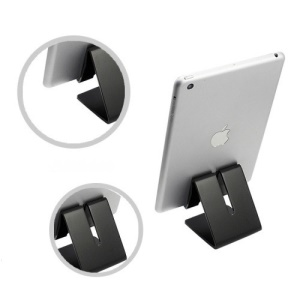 Universal Aluminum Alloy Desktop Holder for iPad iPhone Tablet PC - Black