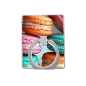 Macaroon Pattern Ring Stand Rotating Finger Grip Holder for Cellphone Tablet - Style B