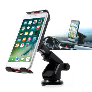 Universal Suction Cup Telescopic Pole Rotary Car Mount Holder, Clamp Width: 11.5 - 20cm - Black
