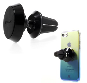 VORSON Portable Magnetic Car Air Vent Mount Phone Holder for iPhone Samsung Etc - Black