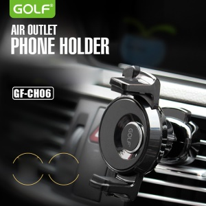 GOLF CH06 Air Outlet Mount 360 Degree Rotary Phone Holder Car Mount for iPhone 7 / 7 Plus - Black