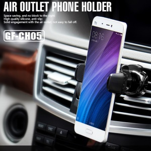 GOLF CH05 Car Air Vent Mount Air Outlet 360 Degree Rotary Phone Holder for iPhone 7, Width: 5.6-8cm - Black