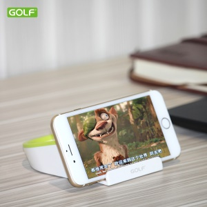 GOLF CH08 Mini Desktop Phone Holder Stand Dustpan Style for iPhone Samsung Huawei Etc