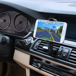 D9ELEMENT Universal Rotary Car Air Vent Mount Mobile Phone Holder for Phone under 5.5 inch - Blue