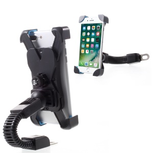 JS-030 Motorcycle Rearview Mirror Mount Holder Cradle for Mobile Phone/GPS