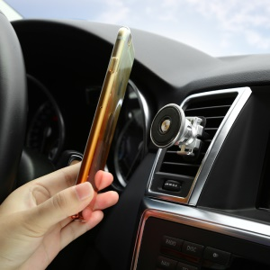 BASEUS Gold Aromatizing Car Mount Magnetic Air Vent Phone Holder for iPhone Samsung - Black