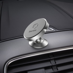 BASEUS 360-Degree Rotation Magnetic Car Mount Holder (Vertical Type) - Silver