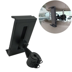 Rotary Car Headrest Holder Mount for iPad Pro 9.7 / Galaxy Tab S3 9.7 Etc, Width: 12.7 - 25cm