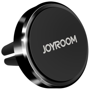 JOYROOM Universal Magnetic Car Air Vent Mount Phone Holder + Ring Grip Holder - Black