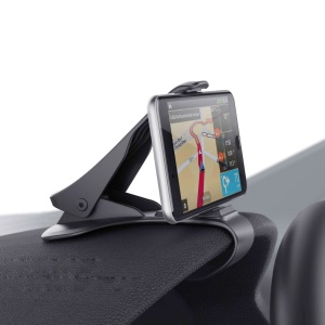 MATE2GO Universal Flexible Phone Clip Holder Desk / Car Mount for Samsung S8, Width under 11cm - Black