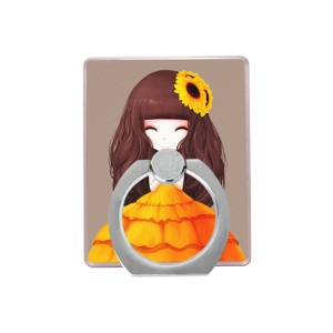 Cartoon Girl Cellphone Ring Holder Finger Grip Stent for iPhone Samsung - Style F