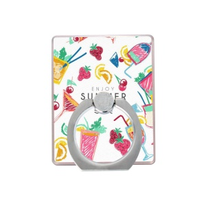 Printing Pattern Universal Cellphone Finger Ring Grip Holder - Drinks and Fruits