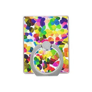 Color Geometry Painting 360 Degree Rotary Finger Grip Holder Stand for Smartphone - Style A