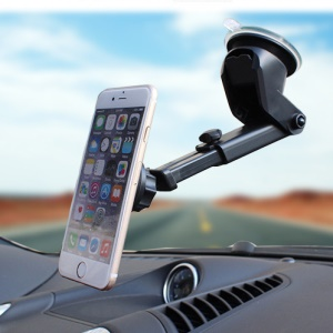 Magnetic Long Arm Suction Cup Desktop Car Windshield Dashboard Mount Holder