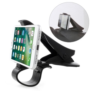 Cell Phone GPS Clip Holder Desk Car Mount for iPhone Samsung Sony Etc, Clip Width: 90mm - Black