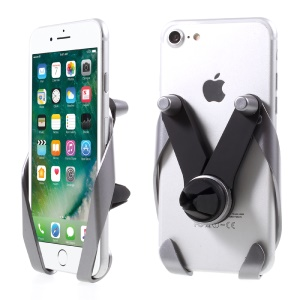 Universal M Style Car Air Vent Phone Mount Holder for iPhone 7 Plus / Samsung Galaxy S8 Etc - Silver