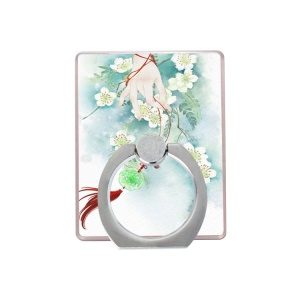 Universal Finger Ring Kickstand for iPhone Samsung - Pear Flower