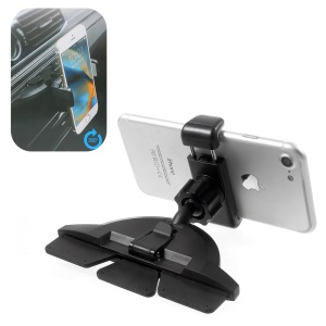Car Mount CD Slot & Air Vent 2-in-1 Cell Phone Holder for iPhone 7 Plus / Samsung Galaxy C9 Pro, Width: 55-88mm (H96)
