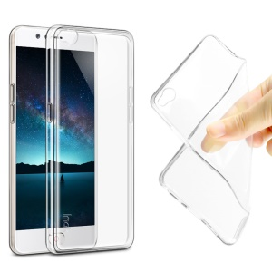IMAK Stealth Case Clear 0.7mm TPU Shell Case + Screen Protector for ZTE nubia M2 Lite