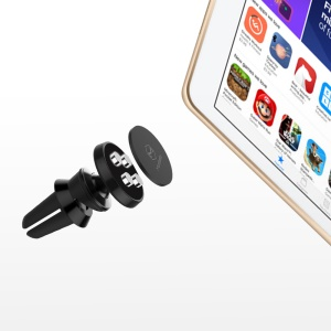 MCDODO CA-256 Magnetic Phone Car Air Vent Mount Holder for iPhone Samsung HTC Etc. - Black
