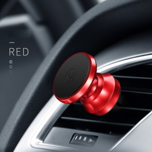 USAMS US-ZJ018 Metal Magnetic Car Air Vent Mount Stand Holder - Red
