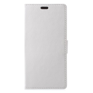 Wallet Stand PU Leather Protective Shell for BlackBerry Motion - White