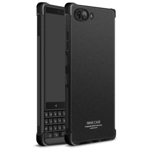 IMAK Skin Feel Anti-drop TPU Case + Explosion-proof Screen Film for BlackBerry Key2 - Matte Black